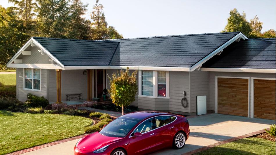Tesla présente ses toits solaires réalisables en moins de 8h